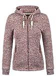 DESIRES Thory Damen Fleecejacke Sweatjacke Jacke mit Kapuze und Daumenlöcher, Größe:XXL, Farbe:Wine Red (0985)