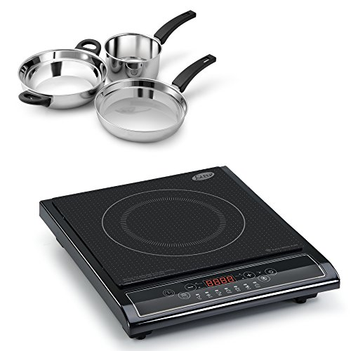 Glen 3071 Induction Cooker and Alda Ss Gift Set 3 Pieces Combos