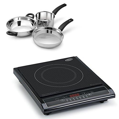 Glen 3071 Induction Cooker + Alda Ss Gift Set - 3 Pcs ( Combos )