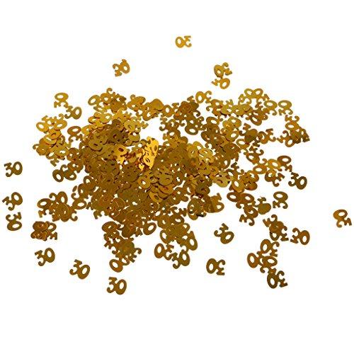 Ballon Konfetti Nummern Tissue Konfetti Party Number PVC Tabelle Konfetti - Gold 30 (Gold Hochzeit Tisch Zahlen)