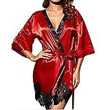 Lingerie Sexy Femme Binggong Femmes Lingerie Kimono en Soie Dressing Plus Size...