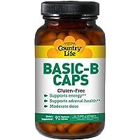 Country Life - Basic-B Caps Vitamin B Complex 25 mg. - 90 Vegetarian Capsules