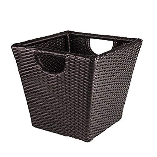 WXF Panier à linge Panier de blanchisserie de rotin, panier sale de stockage de vêtements de salle de bains de ménage, approvisionnements d'hôtel