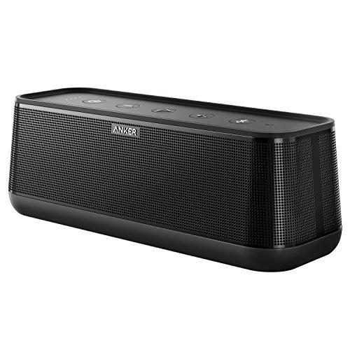 Anker SoundCore Pro+ Bluetooth Lautsprecher, 25W Lautsprecher mit tiefem Bass, erstklassigem Klang, 18 Stunden Akkulaufzeit, Wasserdicht, mit HiFi&BassUp Technologie für Zuhause, Garten und viel mehr