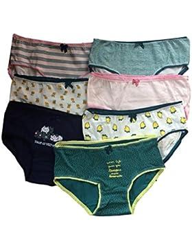 Las niñas adolescentes Ropa interior Paquete de 7 Color mezclado calzoncillos/Braguitas