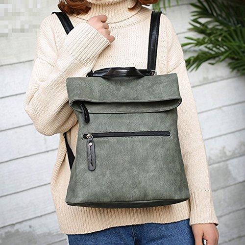 Scuola Di Donne Fashion College Di Viaggio Borsa A Tracolla Borsa Zaino Due Borsa Multicolore Green