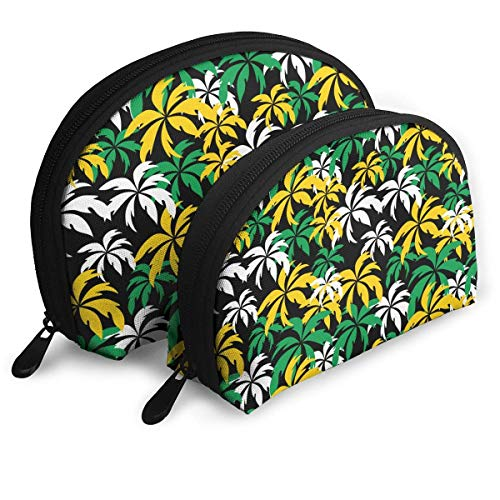 49113d6d9965 palm size wallet. Jamaica Colors Palm Trees Pattern Portable Shell Makeup  Bags Cosmetic Bag Travel Storage Bags Clutch Wallets