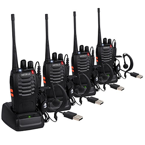 ESYNiC 4pz Walkie Talkie Lunga Distanza Due-Via Radio UHF 400-470MHz con Auricolari...
