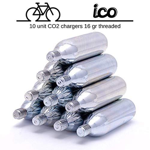 Impeccable Culinary Objects ICO - Cartuchos De CO2 16g Con Rosca Para Neumáticos de Bicicletas Mtb...