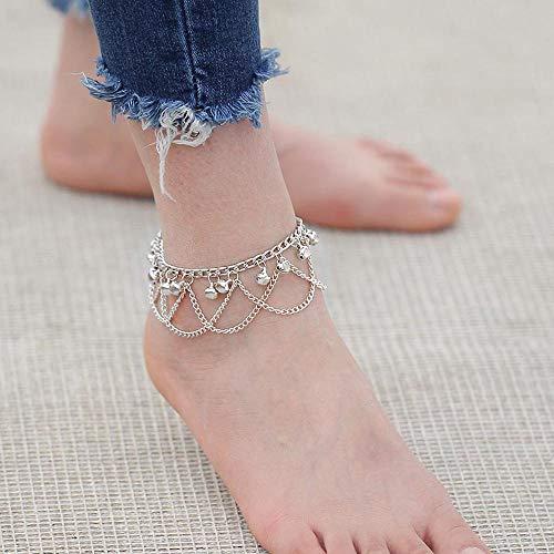 Joyería Jovono Boho Campana borlas de la manera para el tobillo del pie para el...