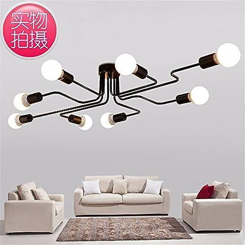 Conveniente e bella illuminazione lampadari lampade lampadario lampada da esterni floorlamp lampada da soffitto-1102 lampada da soffitto 3,6 arte e bianco con LED - 6 Spazzola Di Arte