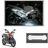 #6: Vheelocityin 10cm Neon Bike Light White - 1pc For Ktm Duke 200