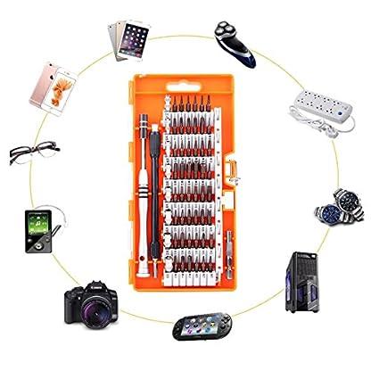 Juego de Destornilladores, 60 en 1 S2 Acero Destornilladores Precisión, Kit Destornilladores Precision con 56 Bits, Smartphone, PC, iPhone, Ordenador, macbook, iPad, Tableta,Otros electrónicos