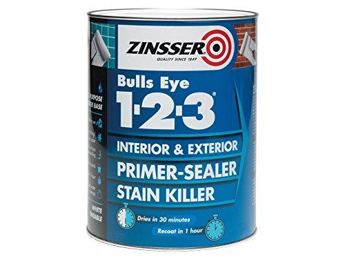 Zinsser ZINBE1231L 123Bulls Eye Grundierung, Versiegelungslack, 1 Liter, ZINBE12325L 0W, 0V