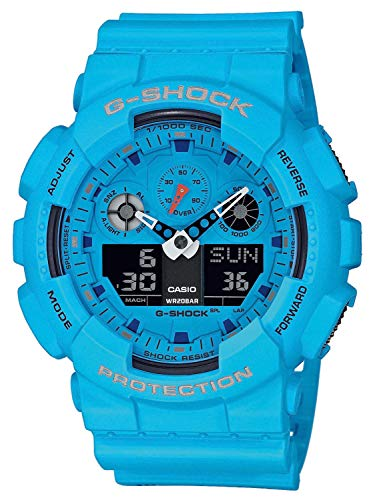 Casio G-Shock Herren-Armbanduhr GA-100RS-2AER (Casio G Blau Uhr Shock)