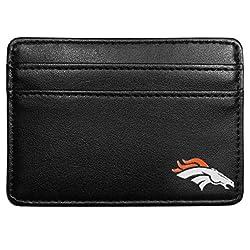 NFL Denver Broncos Leather Weekend Wallet, Black