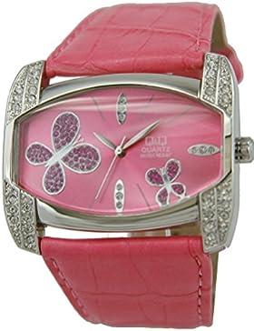 Q & Q GS57J322Damen Armbanduhr, Lederband pink