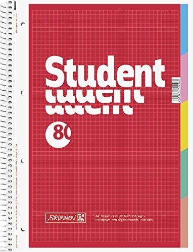 Brunnen Collegeblock Student mit Register, A4, kariert