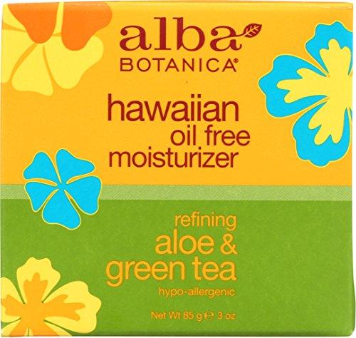 Alba Botanica 0390138 Hawaiian Aloe und Green Tea Moisturizer Oil-Free - 3 Unzen (Green Tea Moisturizer)