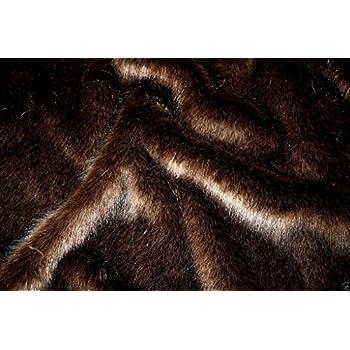 SWISS PURPLE SILVER Super Luxury Faux Fur Fabric Material