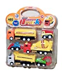 #5: Cluesteps Vehicle Push & Pull Along Toys Construction Trucks Set of 6 Pieces
