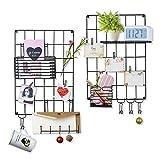 Love-KANKEI Wand Organizer DIY Eisen Grid Panel Foto Wand Multifunktion Metall Mesh Wand Dekor/Hanging Photo Art Display & Organizer (MEHRWEG)