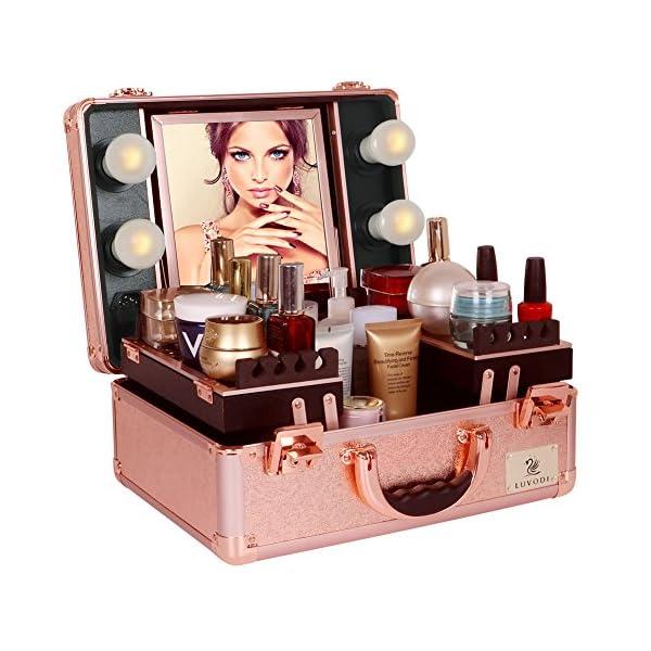 ccd831a8f LUVODI® Maleta Profesional de Maquillajes, Maletín de Cosméticos, Estuche  ...