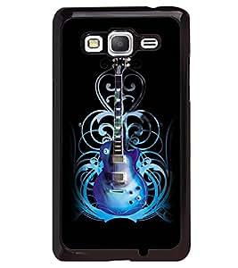 Printvisa Blue Electrified Guitar Back Case Cover for Samsung Galaxy Grand Prime G530h