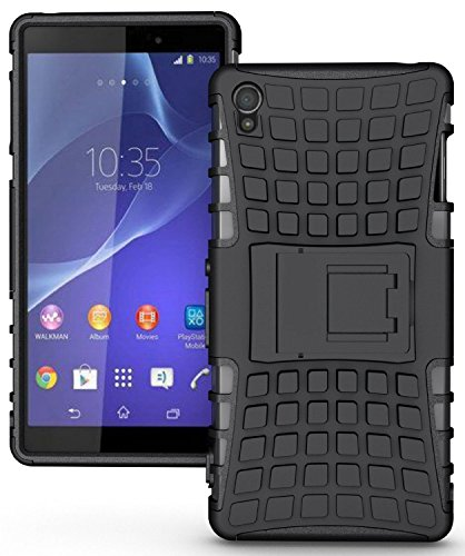 SHIPMATE Armor Defender Back Cover with Kickstand for Oppo A37 (Black)