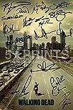 """The Walking Dead Poster Signed PP Cast 12x8"""" Norman Reedus Andrew Lincoln Jon Bernthal Sarah Wayne Callies Laurie Holden Steven Yeun Robert Kirkman"""