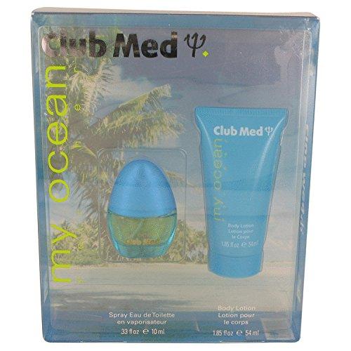 Coty Club Med My Ocean by Gift Set - .33 oz Mini EDT Spray + 1.85 oz Body Lotion/- (Women)
