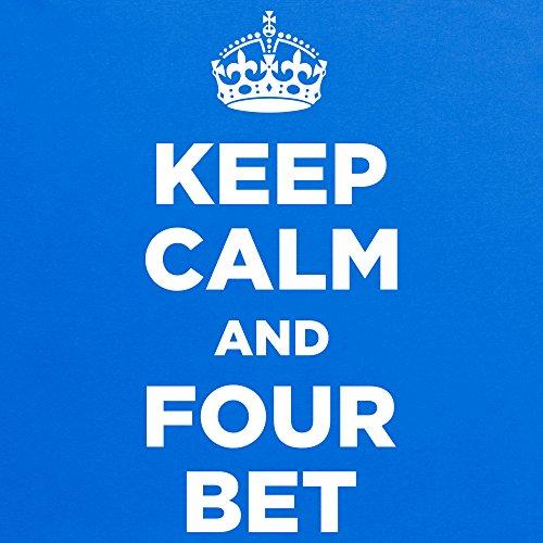 Keep Calm and Bet Four T-Shirt, Damen Royalblau