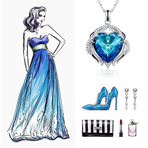 e538a936fffda Atmoko Collier Pendentif Femme Cristal Swarovski Plaqué Platine ...