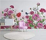 HONGYUANZHANG Moderne Nordische Frische Blume Tapete Des Foto-3D Künstlerische Landschafts-Fernsehhintergrund-Tapete,80Inch (H) X 112Inch (W)
