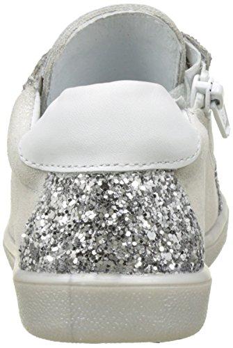 Minibel Mädchen Luxee17 Derby Blanc (Paillette Ecru Glitter)