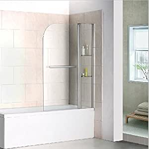 drehen 180 aufsatz badewanne duschwand trennwand duschabtrennung 120x140cm b2s h12. Black Bedroom Furniture Sets. Home Design Ideas