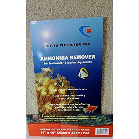 Ammonia Remover Filter Pad 25 x 45cm Large Foam for Aquariums Ponds Freshwater Marine