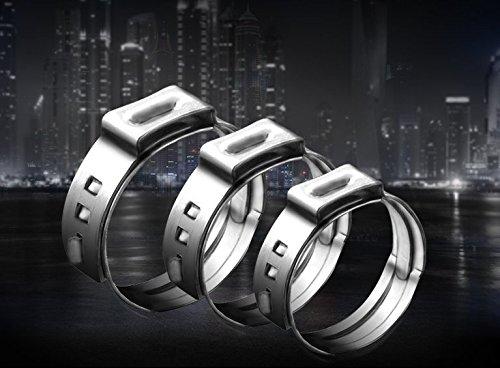 oreille Colliers Serre-joint à vis en acier inoxydable, 16,6-19,8mm