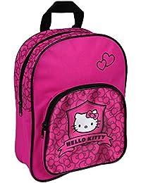 BABY-WALZ Le sac à dos Hello Kitty avec une pochette devant petit sac enfant, rose
