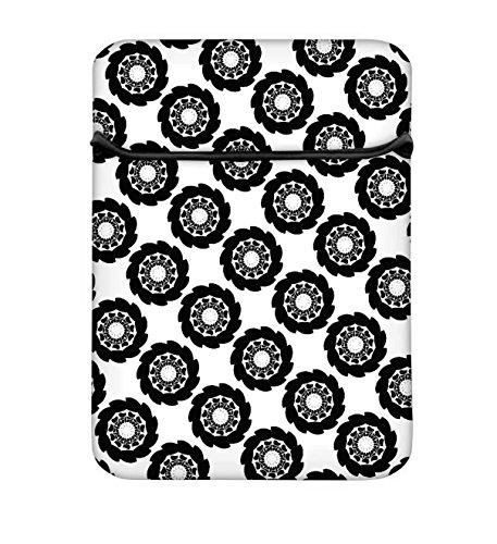 Dark schwarz Muster 17bis 17,6schützende Neopren mit Tragetasche aus Tasche für MacBook Acer Dell HP Lenovo Chromebook