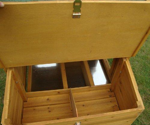 Hühnerstall Hühnerhaus Cocoon Hühnerstall Grosser Hühnerstall 4-6 Hühner mit Nistkasten aufmachbarem Dach für einfache Reinigung, mit Lüftungslöchern, mit stabilen Nistkasten, 30 % größer als Vorläufermodell (3000WX), ca. 250 cm - 3