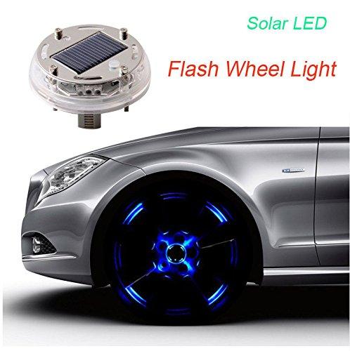 shizak 12LED solare Flash ruota colore 4modalità di illuminazione per auto veicolo auto decorazione lampada pneumatico auto energia solare torcia