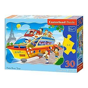 CASTORLAND Paris Boat Tour 30 pcs Contour Puzzle 30 Pieza(s) - Rompecabezas (Contour Puzzle, Dibujos, Niños, Niño/niña, 4 año(s), Interior)