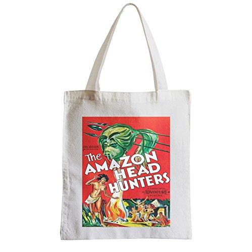 Grand Sac Shopping Plage Etudiant Amazon Amazone Head Hunter Orignal Retro Vintage Film Cinema