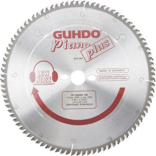 Guhdo Piano Plus HM Lame de scie circulaire 250 x 3,2 Alésage 30 mm/48 WZ | Medium | fabriqué en Allemagne
