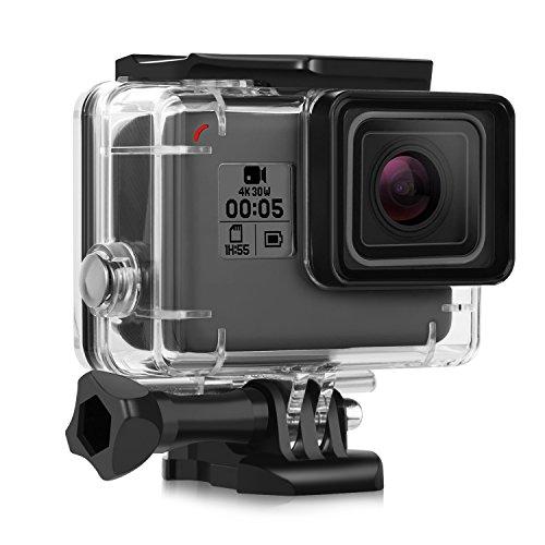 iTrunk Wasserresistente Schutzhülle/Gehäuse mit Schnellmontage-Klammer und Rändelschraube (Daumenschraube) für die GoPro Hero 2018 Hero 6 Hero 5 Black Action Kamera