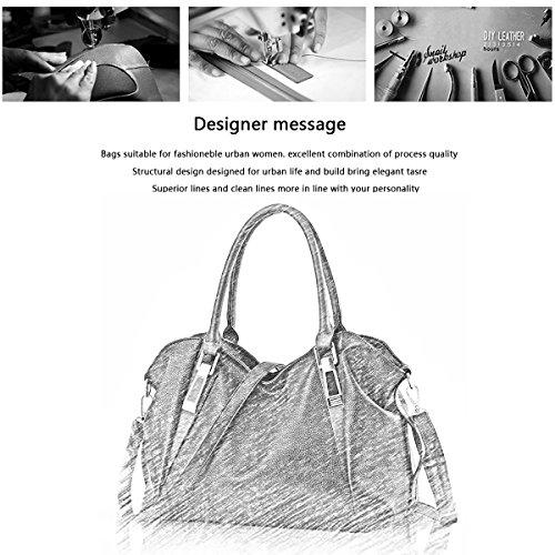 Tisdaini La nuova borsa del suolo femminile mette in mostra il grande pacchetto morbido dell'unità di elaborazione PU del raccoglitore casuale del messaggero di spalla bianco crema