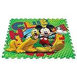 ColorBaby - Alfombra Puzzle goma EVA de MICKEY MOUSE - 9 piezas -...