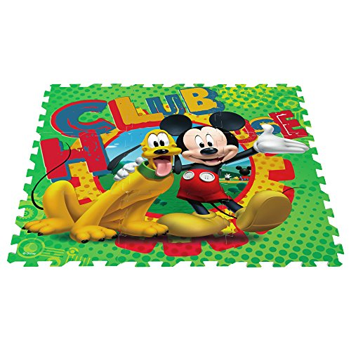 ColorBaby - Alfombra puzzle goma Eva de Mickey Mouse, 9 piezas, 90 x 90 cm (48051)