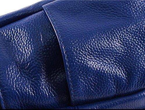 Lady Fashion Première Couche De Sacs En Cuir blue